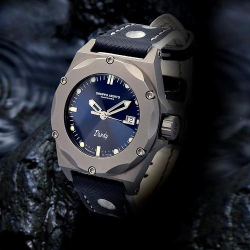 orologio blu rocci