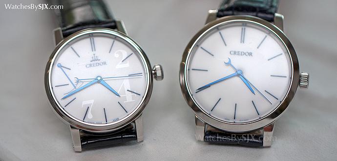 Seiko Credor Eichi I and II comparison 2