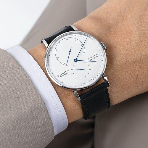 Nomos-Lambda-175-Years-Watchmaking-in-Glashutte-Steel-White